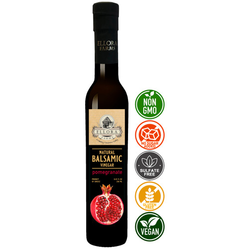 Infused Balsamic Vinegar Creme with Pomegranate, All Natural, Product of Crete, Greece, 250 ml