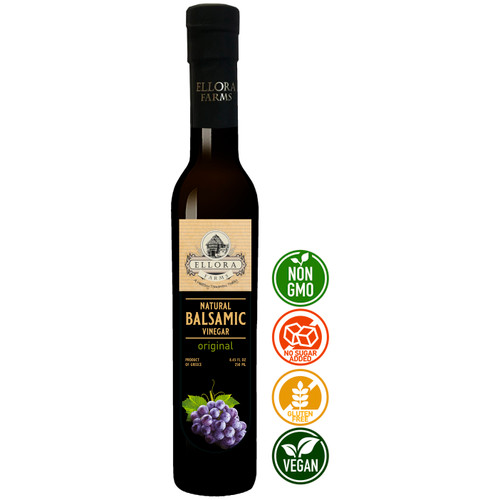 Natural Balsamic Vinegar Crème, Original, All Natural, Product of Crete, Greece, 250 ml