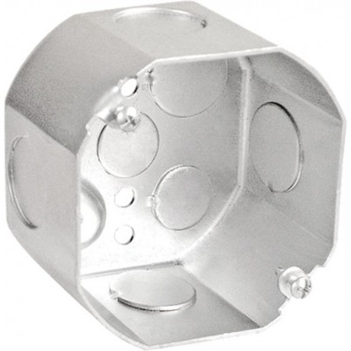 "4"" Octagon Box, 2-1/8"" Deep w/ 3/4"" KOs"