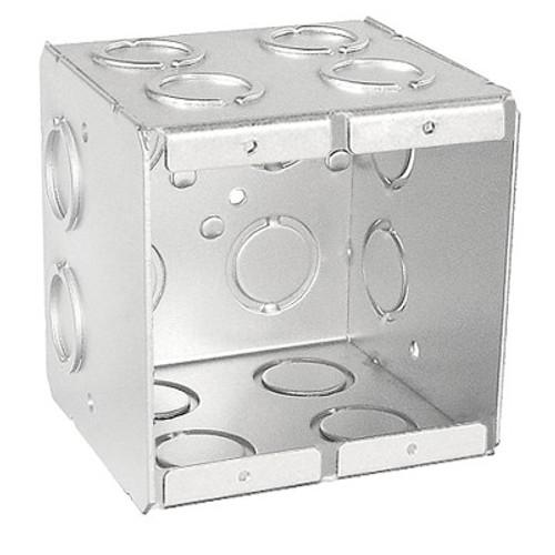 "2-Gang Masonry Box, 3-1/2"" Deep w/ KO's"