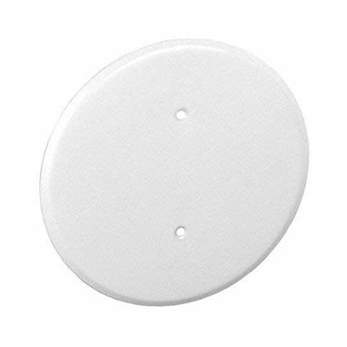 "5"" Ceiling Cover Plate for 3-1/2"" Round Box, Metal - White"