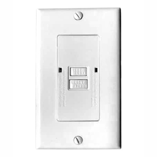 20A Self-Test GFCI, Blank Face, White