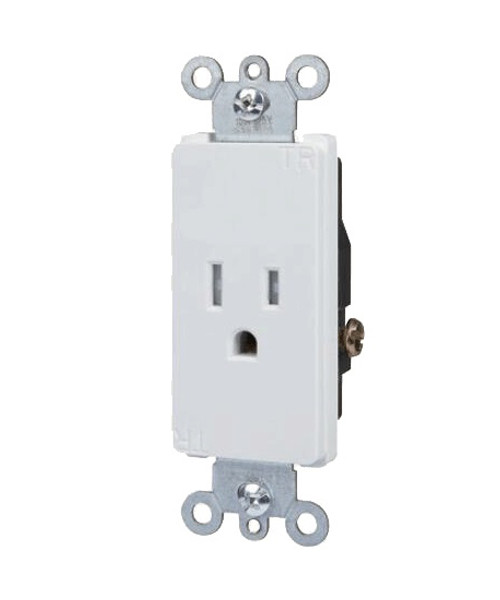 Decorator Single Receptacle 15A-125V, Tamper Resistant