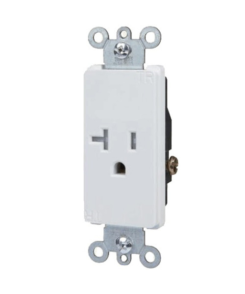 Decorator Single Receptacle 20A-125V, Tamper Resistant