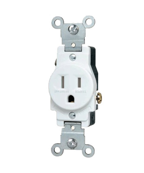Single Receptacle 15A Tamper Resistant