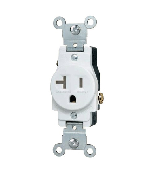 Single Receptacle 20A, Tamper Resistant