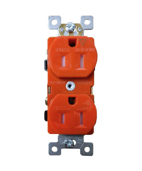 Isolated Ground Duplex Receptacle 15A, Tamper Resistant