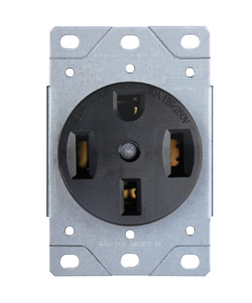 Range Receptacle 50A-125/250V; 3-Pole, 4-Wire; 14-50R