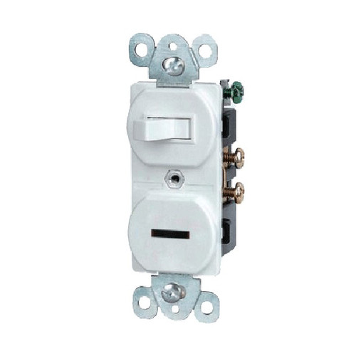 Toggle Switch & Pilot Light Combination Wiring Device