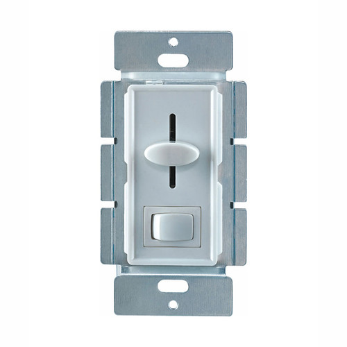 LED Slide Dimmer w/ On/Off Switch, Single Pole, White