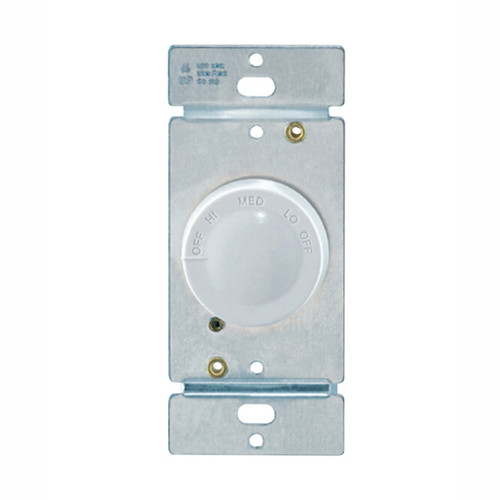 Rotary 3-Speed Fan Control, White