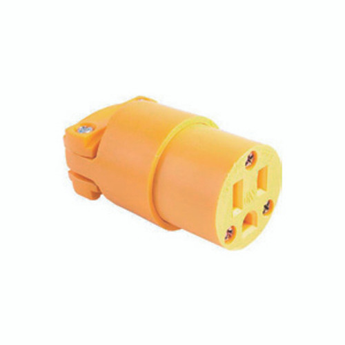 Thermoplastic Vinyl Connector, 2-Pole 3-Wire Grounding, 15A-125V, NEMA 5-15R
