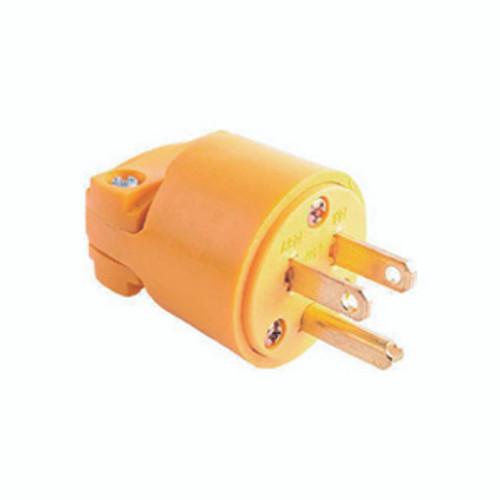 Thermoplastic Vinyl Plug, 2-Pole 3-Wire Grounding, 15A-125V, NEMA 5-15P