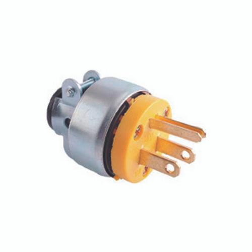 Vinyl Armored Plug, 2-Pole 3-Wire Grounding, 15A-125V, NEMA 5-15P