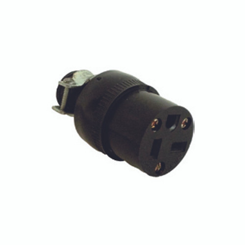 Thermoplastic Rubber Connector, 2-Pole 3-Wire Grounding, 20A-125V, NEMA 5-20R