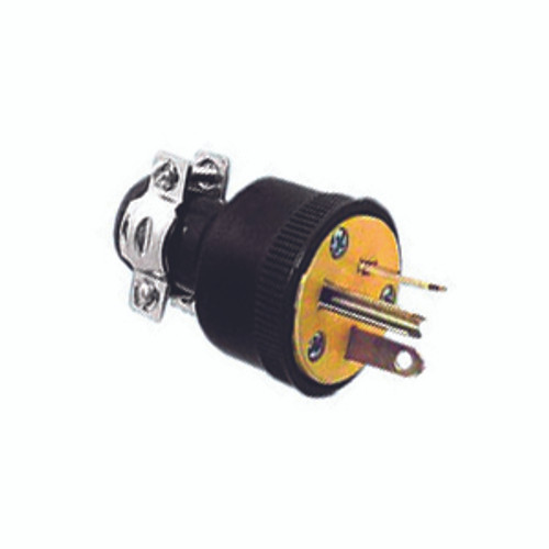 Thermoplastic Rubber Plug, 2-Pole 3-Wire Grounding, 20A-125V, NEMA 5-20P