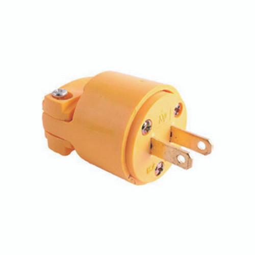 Thermoplastic Vinyl Plug, 2-Pole 2-Wire Non-Grounding, 15A-125V, NEMA 1-15P