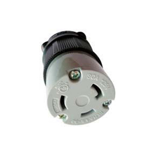 (L5-30C) 30A-125V, 2-Pole 3-Wire Locking Connector