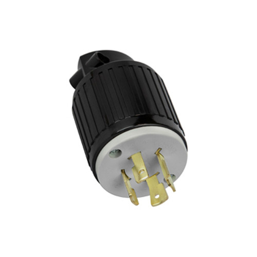 (L15-20P) 20A-250V, 3-Pole 4-Wire Locking Plug