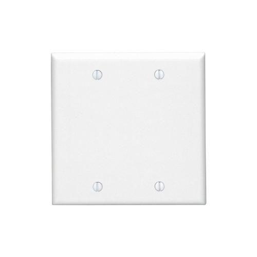 2-Gang Blank Wall Plate