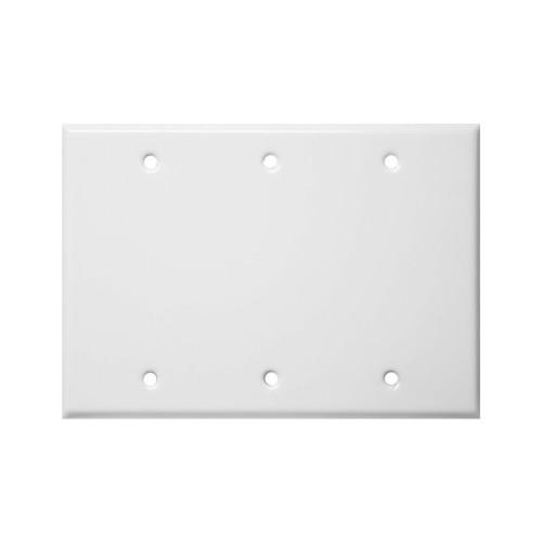 3-Gang Blank Wall Plate