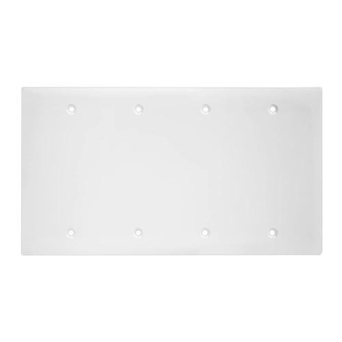 4-Gang Blank Wall Plate