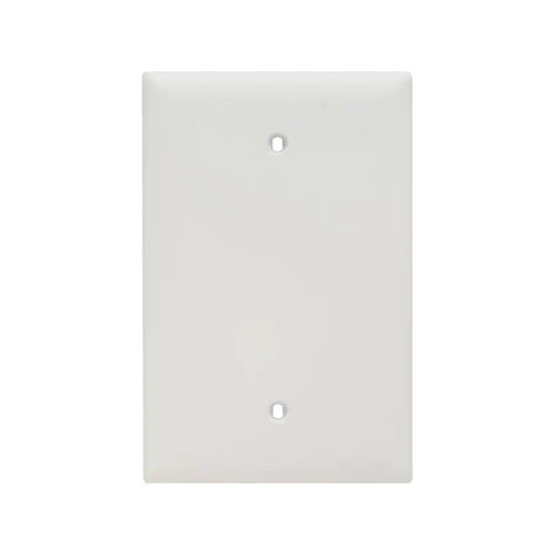 1-Gang Blank Wall Plate, Oversize Large, White