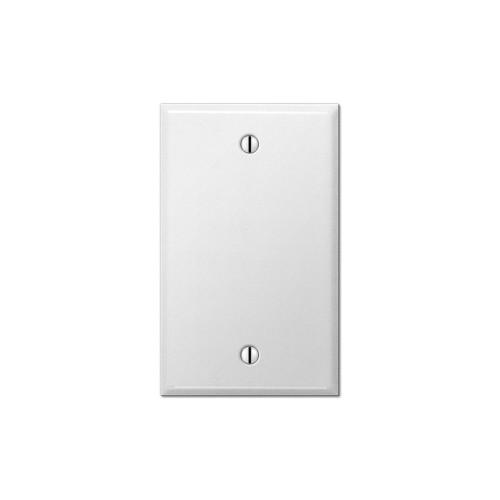 1-Gang Blank Wall Plate, Metal - White