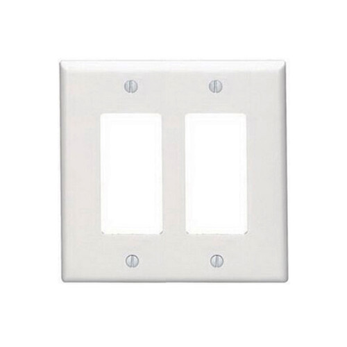2-Gang Decorator Wall Plate, Mid-Size