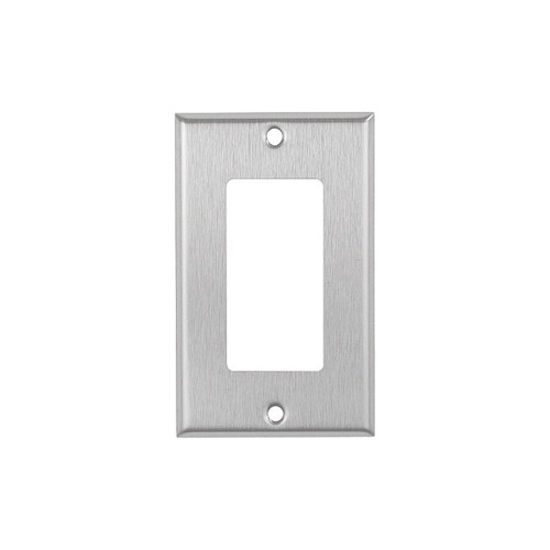 1-Gang Decorator Wall Plate, Stainless Steel