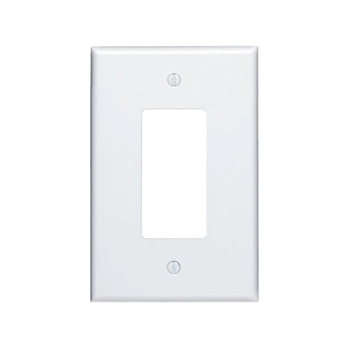 1-Gang Decorator Wall Plate, Oversize Large, Metal - White
