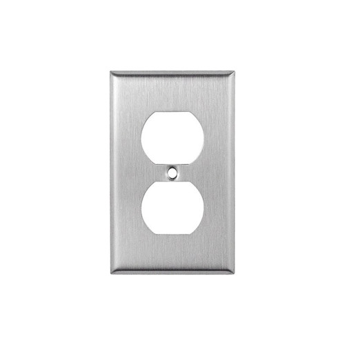 1-Gang Duplex Wall Plate, Stainless Steel