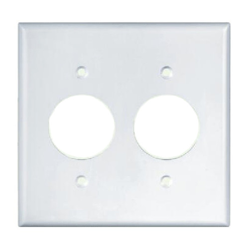 2-Gang Single Receptacle Wall Plate