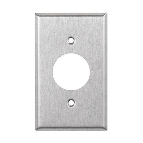 1-Gang Single Receptacle Wall Plate, Stainless Steel