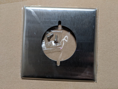"""2-Gang Dryer Receptacle (2.125"""") Wall Plate, Stainless Steel"""