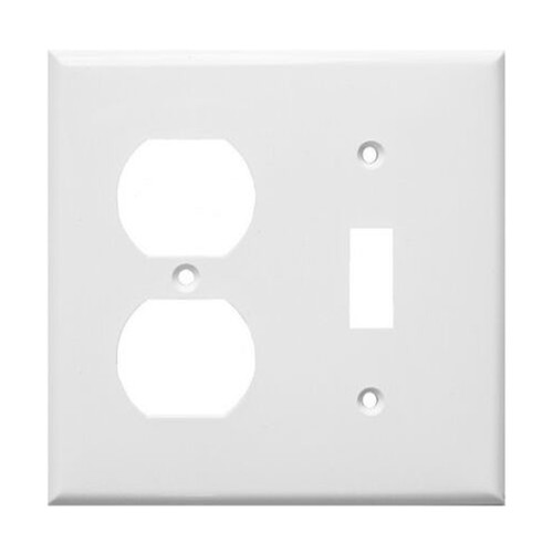 2-Gang Combo Wall Plate - 1 Toggle, 1 Duplex