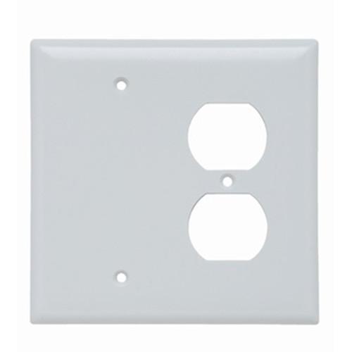 2-Gang Combo Wall Plate - 1 Duplex, 1 Blank