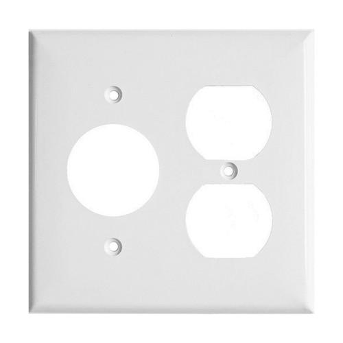 2-Gang Combo Wall Plate - 1 Single, 1 Duplex