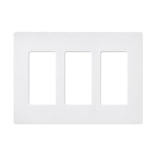 3-Gang Decorator Wall Plate, Screwless