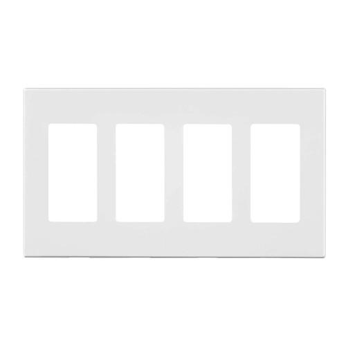 4-Gang Decorator Wall Plate, Screwless