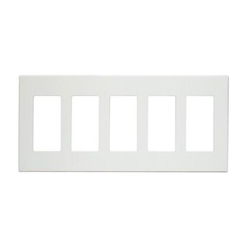 5-Gang Decorator Wall Plate, Screwless