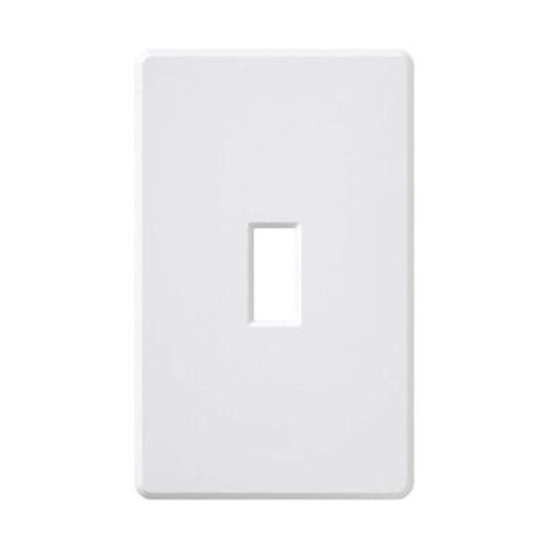 1-Gang Toggle Wall Plate, Screwless