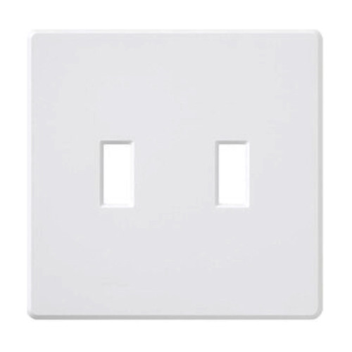 2-Gang Toggle Wall Plate, Screwless