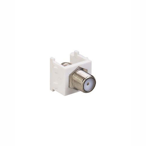 Audio/Video Connector - Nickel TV Cable Device, White