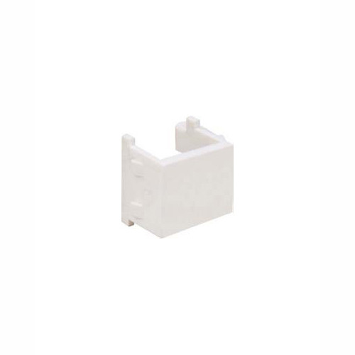 Audio/Video Connector - Blank Insert, White