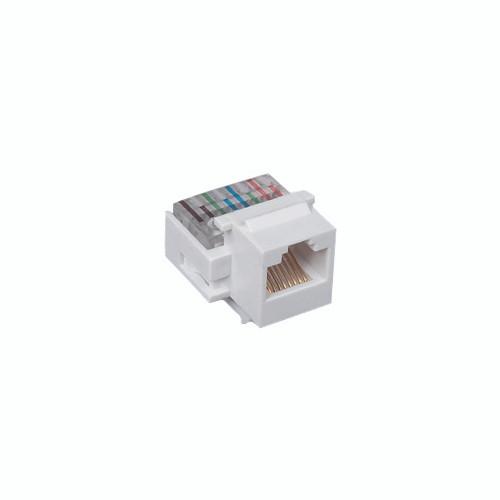 Audio/Video Connector - Cat 6 Jack, White