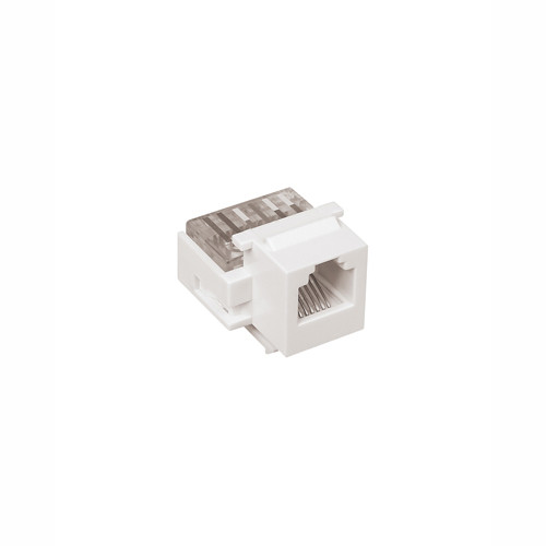 Audio/Video Connector - Phone Jack, White