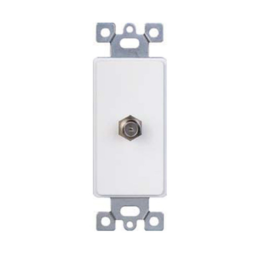 Decorator Style Insert, Single TV Cable Device, White