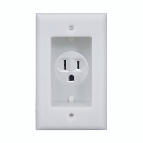 1-Gang Recessed Single Receptacle Wall Plate