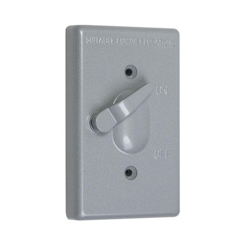 1-Gang Weatherproof Box Cover, Lever Switch Shell